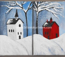 2 Small House Paintings 2010