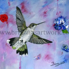 A Hummingbird's Pink Dream final smallcopyright