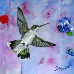 A Hummingbird's Pink Dream final small